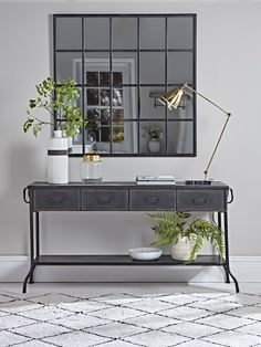 Industrial Iron Console Table - Best Selling Furniture, Home Décor & Accessories Decor, Mirrored Console Table, Oak Dining Table, Wooden Console Table, Sideboard Styles, Brass Console Table, Industrial Console Tables, Iron Console Table, Console Table Styling