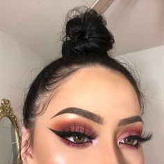 Ideas for nails pink orange eye makeup Makeup On Fleek, Flawless Makeup, Glam Makeup, Gorgeous Makeup, Love Makeup, Skin Makeup, Makeup Inspo, Makeup Inspiration, Beauty Makeup