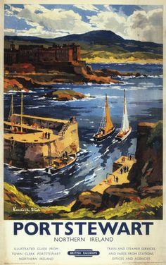 BR(LMR) poster. 'Portstewart - Northern Ire, Steel, Kenneth jul16