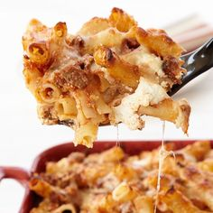 Speedy Baked Ziti // More Amazing Baked Pasta: http://www.foodandwine.com/slideshows/baked-pasta-dishes #foodandwine