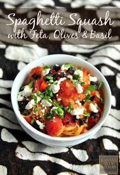 Spaghetti Squash With Feta, Olives, and Basil | KansasCityMamas.com (Baby Squash Recipes)