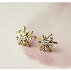 $15.99  Current Elegant Bling Rhinestone Flower  Earings Material:Alloy