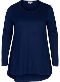 Bluse med ekstra lengde - Kjøp i str. 42-56 på Zizzi.no - Zizzi.no