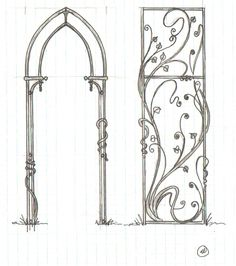 #1    The Grid Method of Making a Garden Arbor    (first published in The Anvil's Ring, the official publication of the Artists-Blacksmith's Association of North America, Inc. Volune 39, No. 4, Summer 2011) by Karine Maynard    http://stayathomewelder.blogspot.com/2012/05/grid-method-of-making-garden-arbor.html