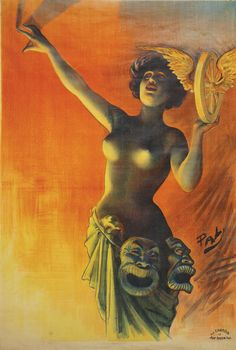 "carga-de-agua: ""La Femme Nue by Pal (Jean de Paleologue, 1860-1942). Romanian poster artist, painter, and illustrator. """