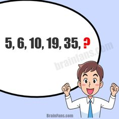 Brain teaser - Number And Math Puzzle - Number Series and Number Pattern - Find the next number in the row based on the pattern. Only for geniuses. Are you one of them?