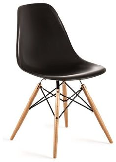 Lucia Chair, Black - Midcentury - Dining Chairs - Industry West