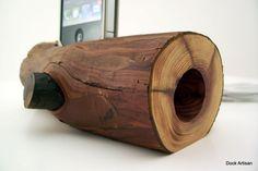 Passive Speaker iPhone Dock with Bark On  ICN 407 by dockartisan, $60.00