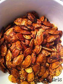 Fly Girls: Cajun Pumpkin Seeds #food #recipe