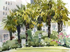 NearEnglishBayVancouver - shari blaukopf; practice palm trees like this