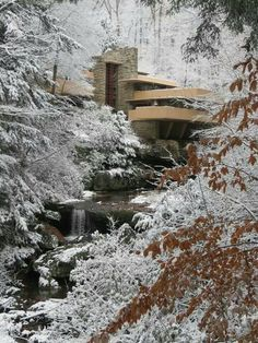 USA, Pennsylvania, Laurel Highlands, Built by Frank Lleyd Wright