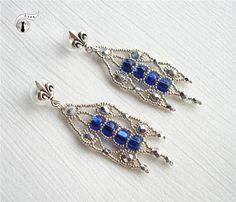 #beadwork Lyna's Blog: Серьги к браслету «Sablé»