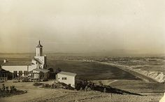 C 1920's La Venta Inn in Palos Verdes Calif with view of the South Bay.