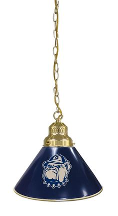 The Georgetown University single pendant billiard light is hand made in the USA. This Georgetown University pendant pool table light with matching team colored shade would be perfect for any man cave,