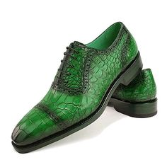 Mens Alligator Leather Cap Toe Lace-up Oxford Classic Modern Business Dress Shoes Casual Leather Shoes, Leather Cap, Casual Shoes, Shoes Sandals, Dress Shoes, Man Shoes, Elegant Man, Crocodile Skin, Grown Man