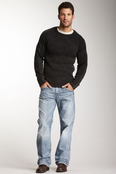 Men's Silver Jeans Low Rise Zac Straight Stretch Jean 38 x 32 ...