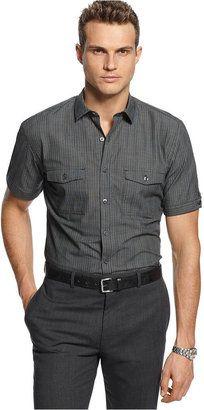 Alfani Shirt, Slim-Fit Basin Stripe Shirt