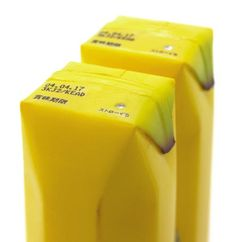 Package design for a banana juice by product and packaging designer Naoto Fukasawa.