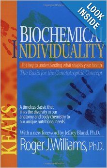 Biochemical Individuality Roger Williams