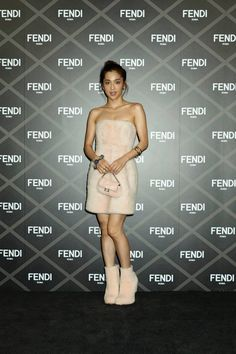 Ann Nakamura at the Fendi Haute Couture show in Tokyo.