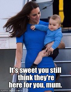 george. Hahaha Prince George really loves his mom.