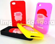 Capa Silicone 3D - Pig Yo McDull iPhone 4 4S - Para mais informações clique na imagem :)