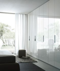 Floor to ceiling white 2pack built-in wardrobes. #wardrobes #2pack