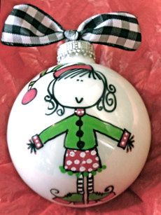 Elf Ornament  Hand Painted and Personalized  by HappyYouHappyMe, $14.00