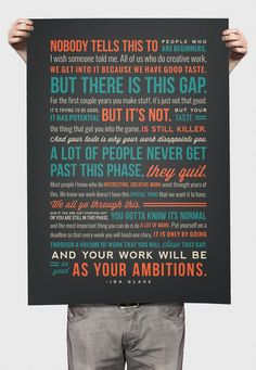 Ira Glass Quote Poster by Nikki Hampson, via Behance