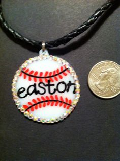 Baseball necklace  #baseball  #jewelry