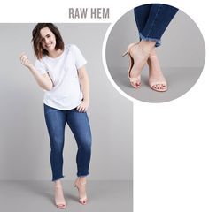 love the raw hem (I don't own any of these)