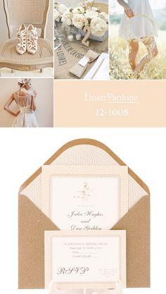 Invitación de boda 2013 en color lino