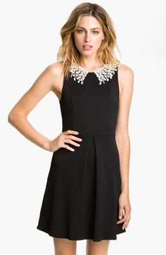Free People Lace Collar Cutout Dress | Nordstrom. Didn't think I would like the peter pan collar, but I love this!