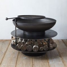 Layered Logs Fire Pit #NaturalGasFirePit