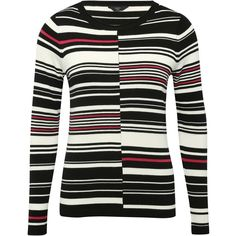 M&Co Petite Cut About Stripe Jumper ($24) ❤ liked on Polyvore featuring tops, sweaters, black, petite, stripe sweater, petite sweaters, color-block sweater, multi color sweater and color block sweaters