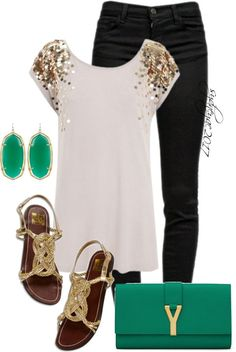 """""""Kendra Scott Earrings"""" by sydneyac2017 on Polyvore Not usually a glitter girl however I like this!-T"""