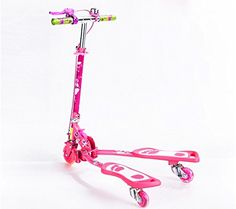 BigAnts Kids Kick Scooter for child Pink >>> Find out more about the great product at the image link. Kick Scooter, Robot, Image Link, Kicks, Bicycle, Chanel, Personalized Items, Children, Jeans