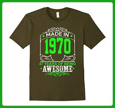Mens Cool Birthday T-Shirt For 47 Years Old. Best Gift From Child Small Olive - Birthday shirts (*Amazon Partner-Link)