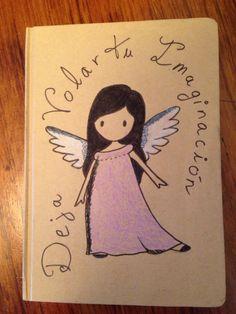 Un cuaderno simple, un dibujo y listo para usar!!