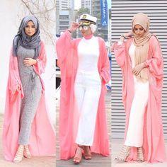 Breathable hijabi outfits – Just Trendy Girls Dubai Fashion, Abaya Fashion, Muslim Fashion, Kimono Fashion, Modest Fashion, Stylish Hijab, Mode Hijab, Latest Outfits, Hijab Outfit