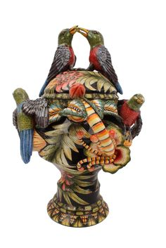 This week's A-spot is awarded to this striking Narina Trogon Bird Urn, made by Sfiso Mwelase and painted boldly by Punch Shabalala.