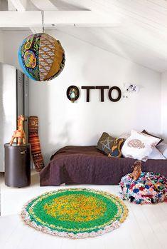 warm scandanavian stylish + ethnic living room // home of interior designer Marie Olsson Nylander