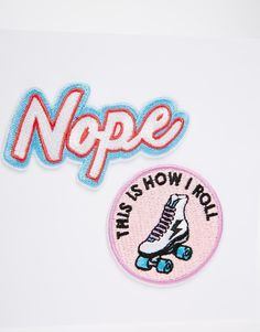 Image 2 of Skinnydip Nope Iron On Patches (2pk)