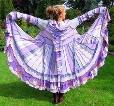 Purple Goddess coat cashmere One of a Kind XL by Fairytea, Elvish, Cashmere Coat, Sweater Coats, Sweaters, Pastel Purple, Coat Dress, Handmade Clothes, Refashion, Things That Bounce