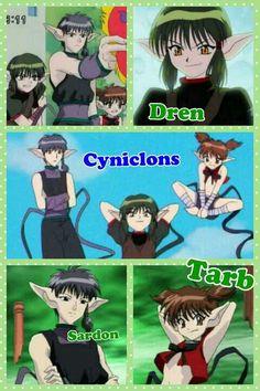 The Cyniclons Dren, Sardon, and Tarb