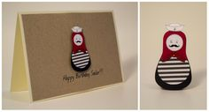 Happy Birthday Sailor handmade card by Le Petit Hibou (Matryoshka, Babushka, Russian Doll) Etsy Cards, Sailor, Calendar, Happy Birthday, Doll, Holiday Decor, Drawings, Handmade, Inspiration