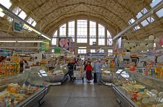 Riga Central Market, Riga, Latvia | Dairy pavillion of Riga Central Market is just one of 5 such huge ...