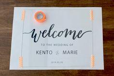 簡単おしゃれ海外風アクリルウェルカムボードの作り方 | ARCH DAYS Wedding Welcome Board, Welcome Boards, Welcome Table, Diy Wedding Reception, Wedding Signs, Wedding Table, Industrial Wedding, Wedding Images, Wedding Planner