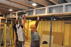 how to build a bulkhead around ductwork osb bottom