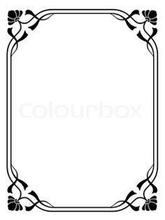 Art nouveau ornamental decorative frame stock photo